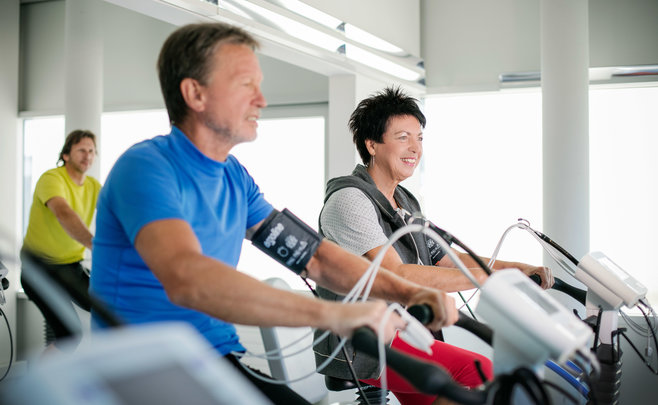 Ergometertraining im Humanomed Zentrum Althofen